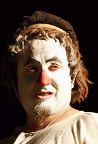 Il Clown Andrea Kaemmerle rappresentante Fnas in una foto di Michele Spinapolice
