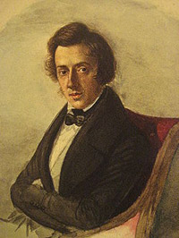 Fryderyk Chopin, compositore e pianista romantico