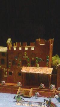 Scultura raffigurante il Palazzo Pretorio di Certaldo Alto