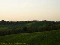 Anteprima del panorama della campagna del Pian Grande vicino Certaldo